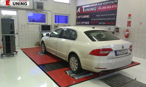Skoda Superb Chip Tuning Referencia Dynoproject Teljesitmenymeres