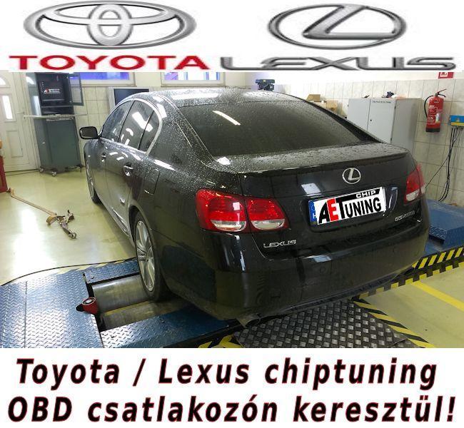 Toyota és Lexus típusok Chiptuningja már OBD csatlakozón keresztül is!
