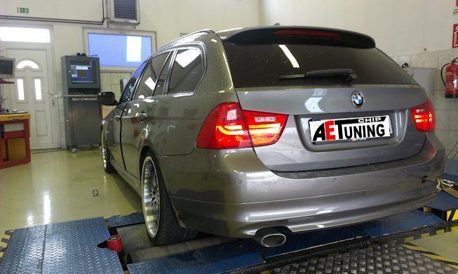 BMW 320D 184LE Chiptuning teljesítmény mérés