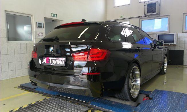BMW F11 530D 258LE Chiptuning teljesítménymérés