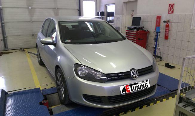 Volkswagen Golf VI 2.0TDI CR 110LE DSG Chiptuning teljesítménymérés fékpadon