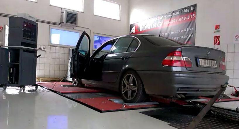 BMW 330D Füstöl mint egy gyárkémény