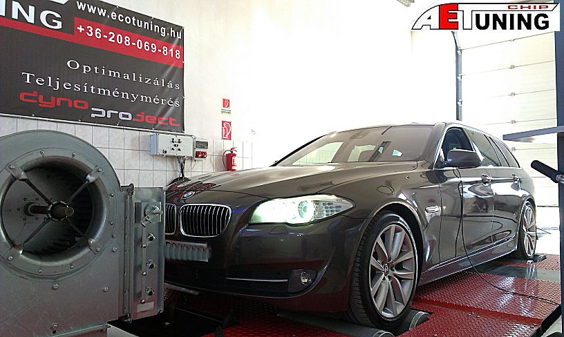 BMW F11 535D 299LE Chiptuning Optimalizálás fékpadon