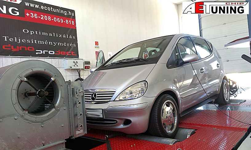 Mercedes A170 Chiptuning DYNO fékpadon optimalizálva