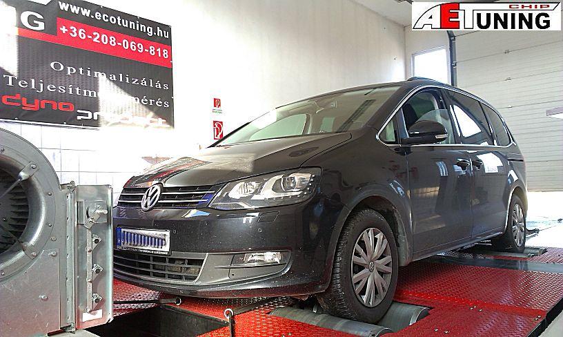 Volkswagen Sharan 2.0TDI 140LE DSG váltóval. Optimalizált fékpadi beállítás