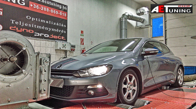 vw scirocco 2.0TFSI chiptuning