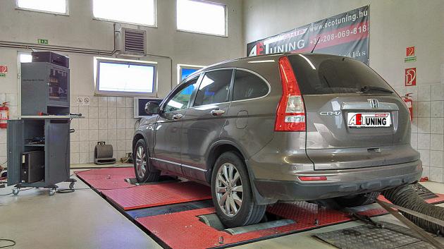 Honda CR-V 2.2 I-DTEC Chiptuning motoroptimalizálás csiptuning teljesítménymérés dyno