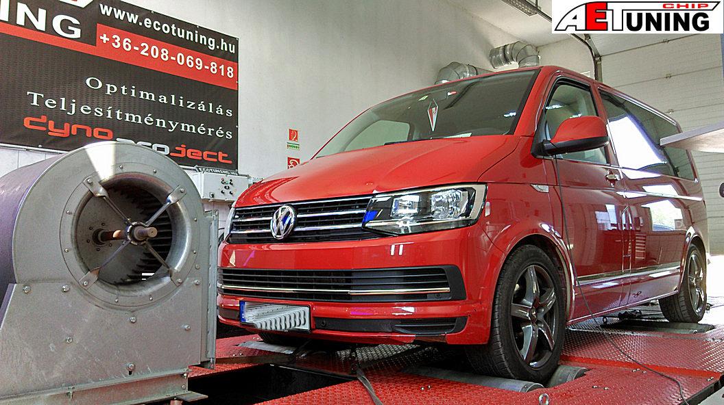 volkswagen transporter t6 chiptuning teljesítménymérés