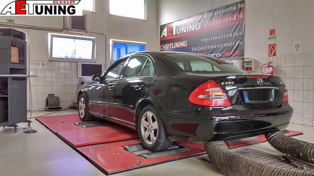 Mercedes E280 CDI Teljesítménymérés