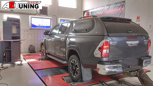 Toyota Hilux 2.4 D4D 150LE Chiptuning chip tuning