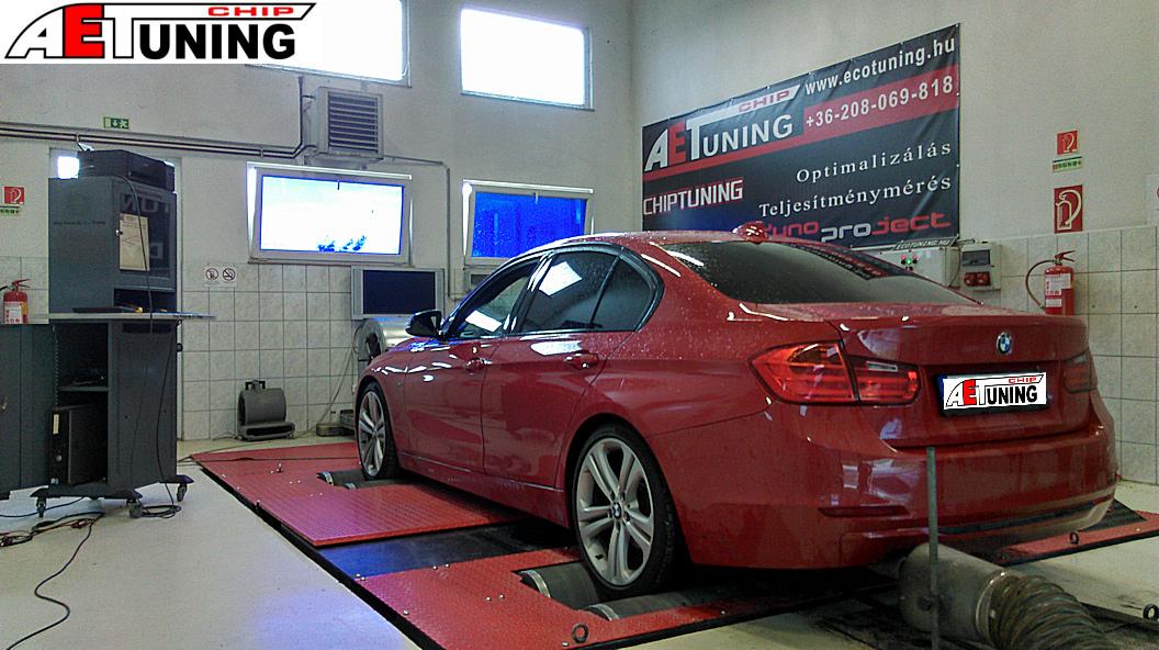 BMW F30 Chiptuning Teljesítménymérés