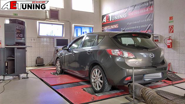 Mazda 3 2.2 MZR-CD DYNO Teljesítménymérés MotorOptimalizálás