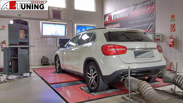 Mercedes GLA 4matic Teljesítménymérés DYNO Chiptuning