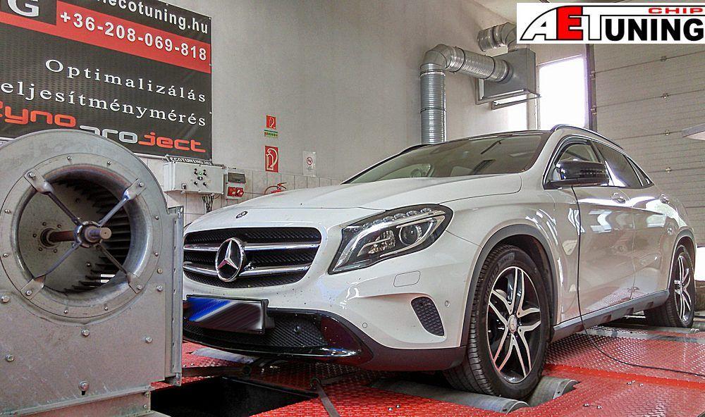 Mercedes GLA Chiptuning DYNO fékpadon