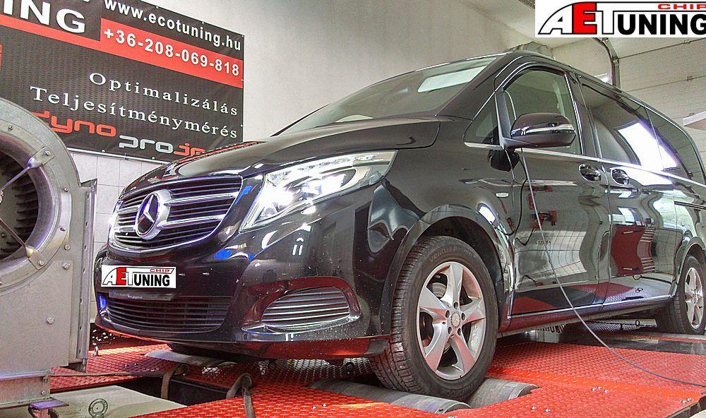 Mercedes V-Klass Motoroptimalizálás