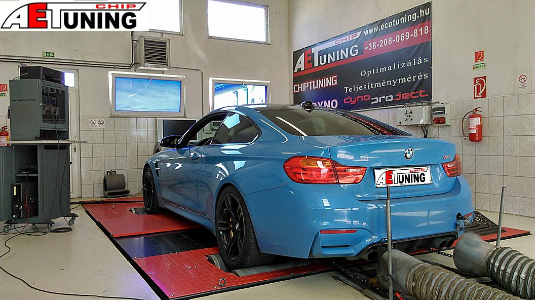 BMW M4 Chiptuning DYNO teljesítménymérés