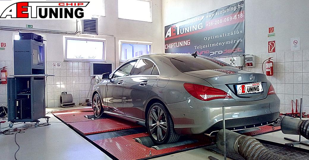 Mercedes CLA 200CDI Chiptuning teljesítménymérés