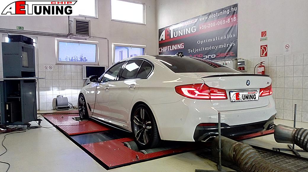 BMW G30 520D Teljesítménymérés