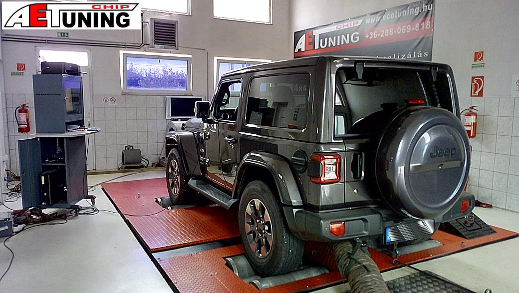 Jeep Wrangler 2.2MJET Teljesítménymérés