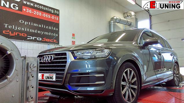 Audi Q7 50 TDI - 286Le chiptuning motoroptimalizálás teljesítménymérő fékpadon garanciával