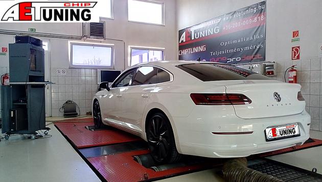 Volkswagen Arteon Chiptuning Teljesítmény méréssel