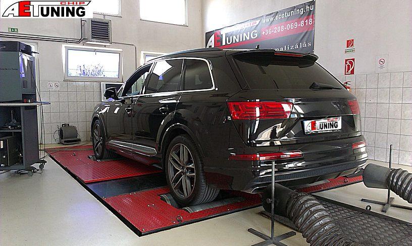 Audi Q7 4M Teljesítménymérés