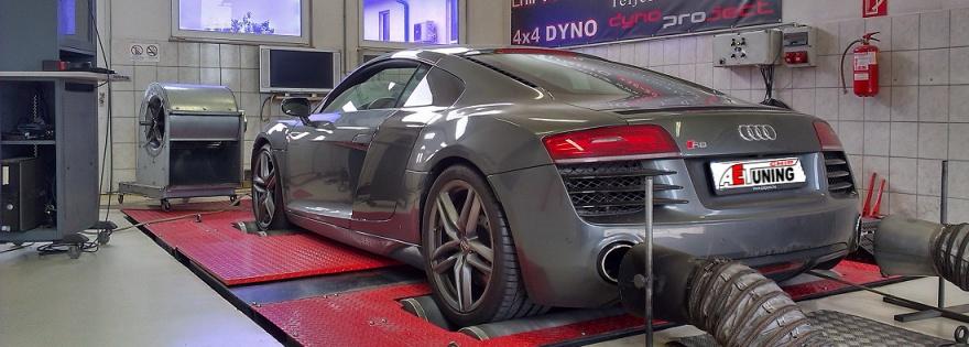 Audi R8 Teljesítménymérés