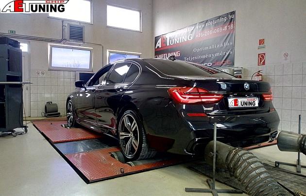 BMW 7 serie M760i - 585Le chiptuning motoroptimalizálás teljesítménymérő fékpadon garanciával