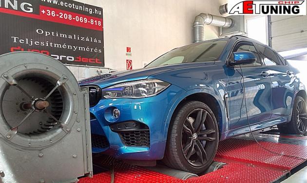 BMW X6M 575Le motoroptimalizálás fékpadon