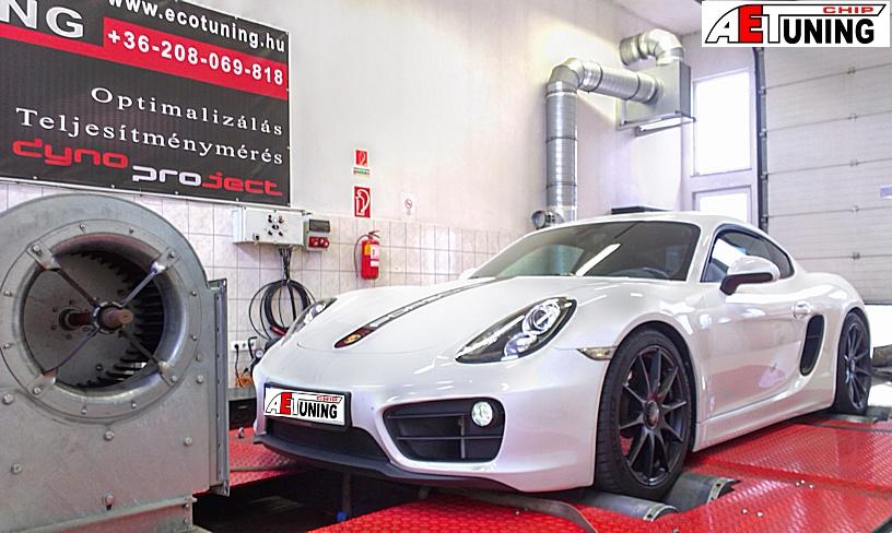 Porsche Cayman 2.7DFI motoroptimalizálás fékpadon