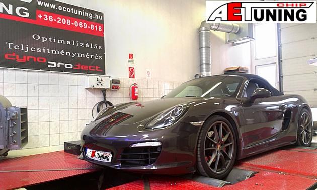 Porsche Boxster Chiptuning meglepő eredménnyel motoroptimalizálás fékpadon