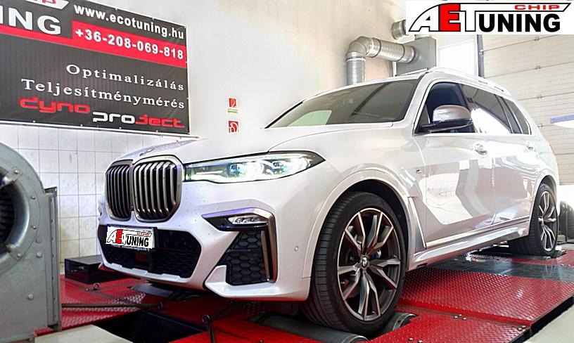 BMW X7 M50D motoroptimalizálás fékpadon