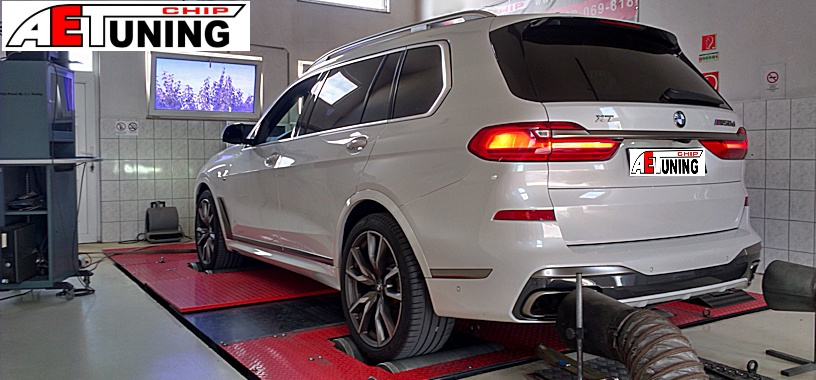 BMW X7 M50D Chiptuning + Tuningbox teszt